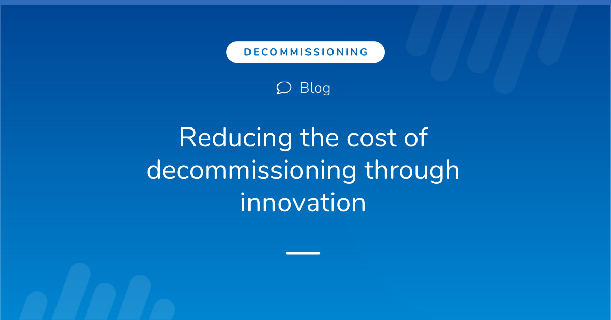 Reducing the cost of decommissioning through innovation: An interview with Keith Hogg from OGTC